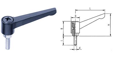 A04 KASSNER-Hebel verstellbar Form A
