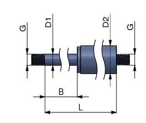 Ressort à gaz avec le fil (2-3 semaines)